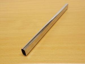 Krácená šatní tyč chrom ovál 856 mm