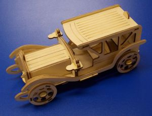 Dřevěné 3D puzzle -limuzína