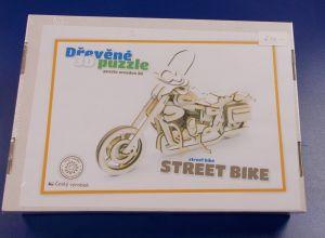 Dřevěné 3D puzzle - motorka street bike