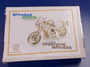 Dřevěné 3D puzzle - sportovní motorka