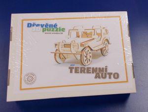 Dřevěné 3D puzzle -  model  terénní auto