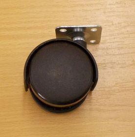 Kolečko pevné 50 mm, s plotničkou