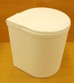 Koš plastový kulatý 13 litrů , bílý