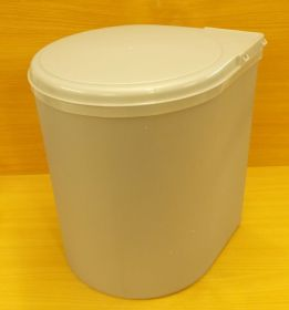 Koš plastový kulatý 13 litrů , šedý