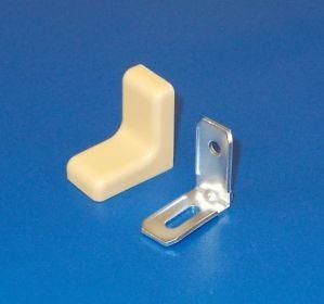 Kovový úhelník s krytkou tvar L,buk