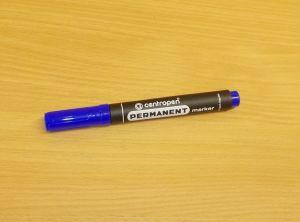 Popisovač, centropen, fix, hrot 2,5mm, modrý