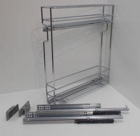 Výsuvný dvojkoš,VIBO,plnovýsuv quadro s tl., 150mm,levý, pro sp.skříňku